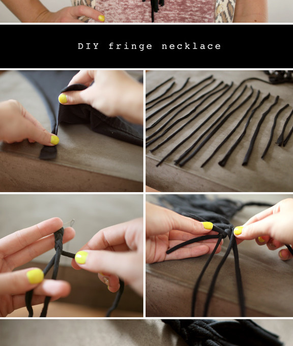 DIY collar flecos necklace fringe