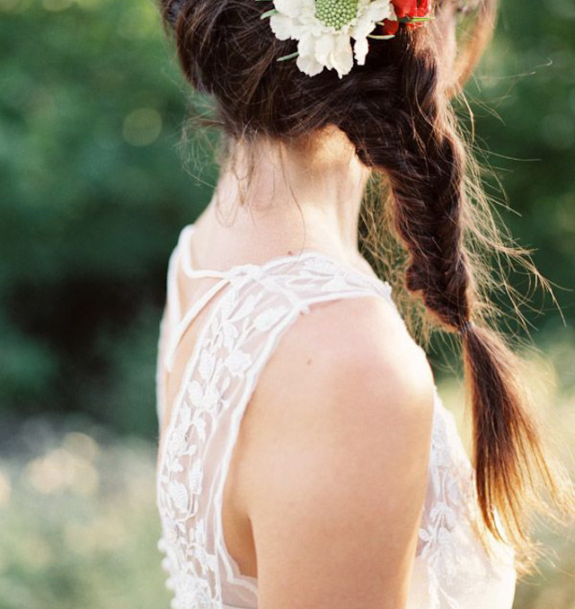 trenza recogido boda novia invitada hairstyle braid wedding