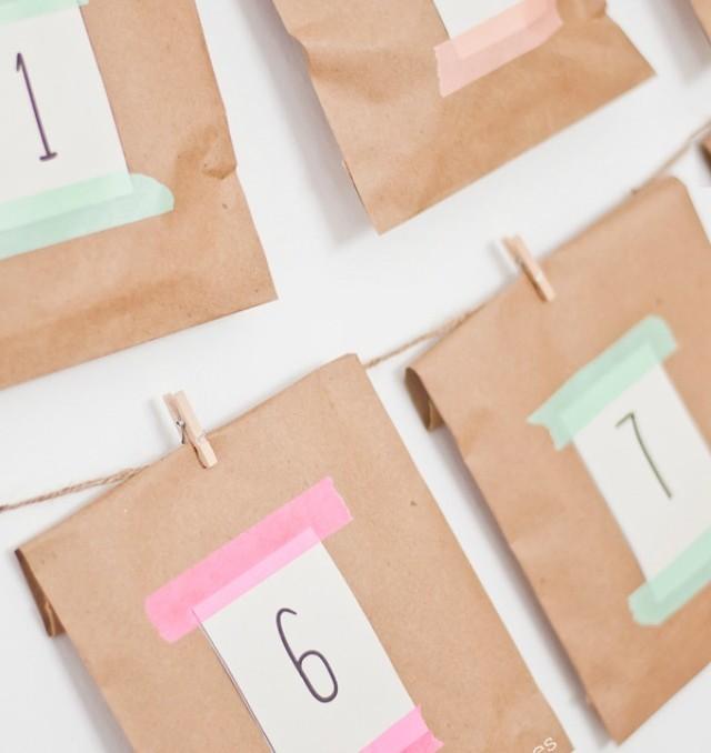calendario de adviento 2015 ideas kraft rápido fácil sencillo nórdico