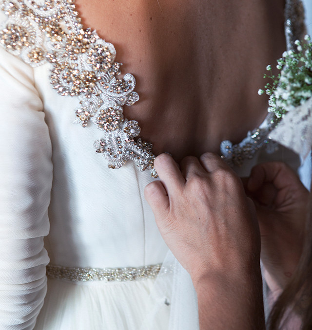 boda furgoneta vintage mint elegante campestre dama de honor rosa palo astilbe santos costura