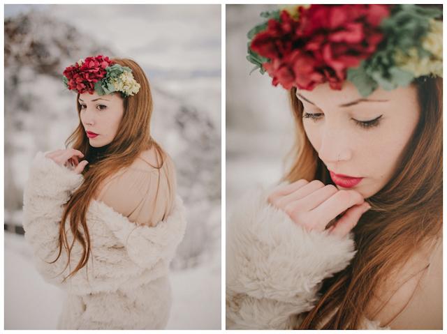 novia invierno boda corona hortensias labios rojos pablo laguia