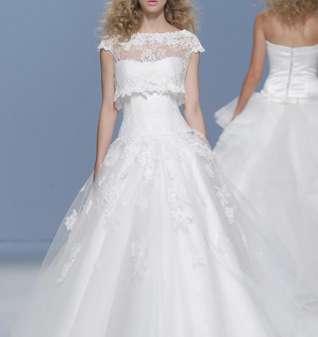 novia vestido dos piezas camisa top crop blog boda atodoconfetti