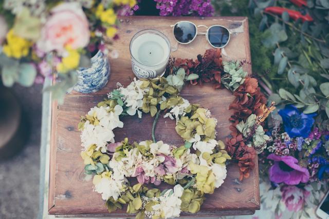 flores boda ramos ideas invitada corona diadema kiwo chitina rosas lavanda