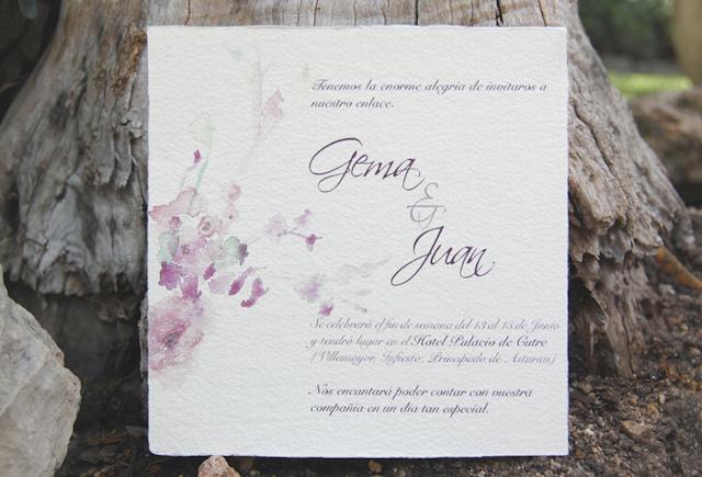 invitaciones boda acuarela stationery wedding blog watercolor