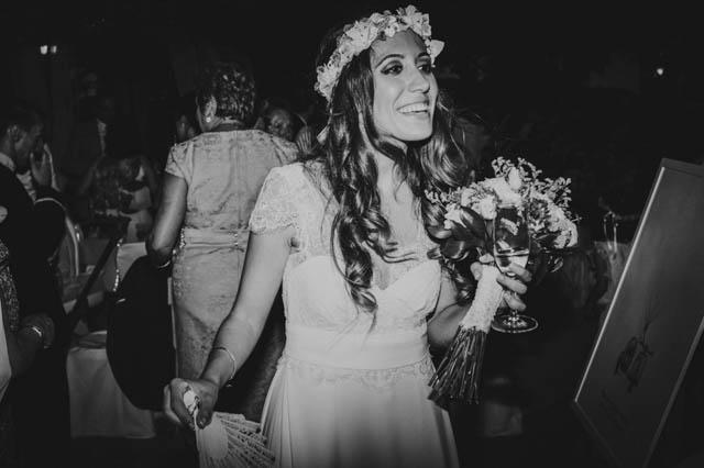 blog bodas laure sagazan vestido novia tocado flores jose bernal