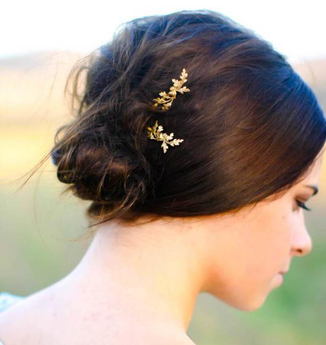horquilla pelo pin bobby dorado luna abeja triángulo hair