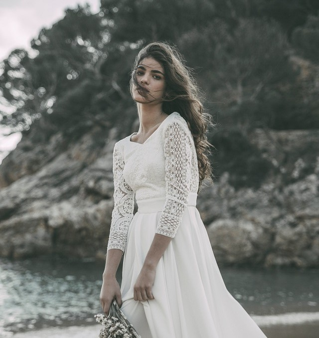 claudia llagostera vestidos novia boho wedding dress bohemio blog bodas original ideas encaje manga larga 10