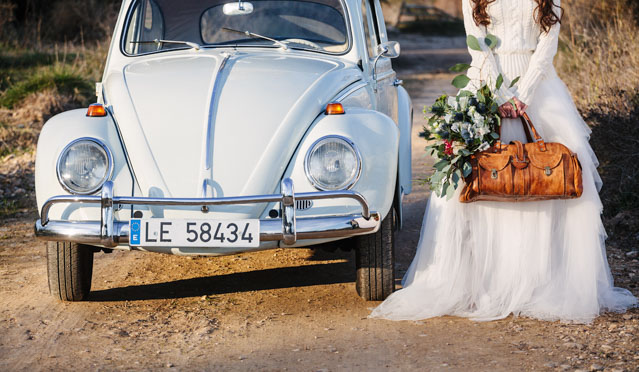 novia vintage falda tul jersey corona ramo xl grande neima vidal coche vintage escarabajo zaragoza eva pellejero peluqueria