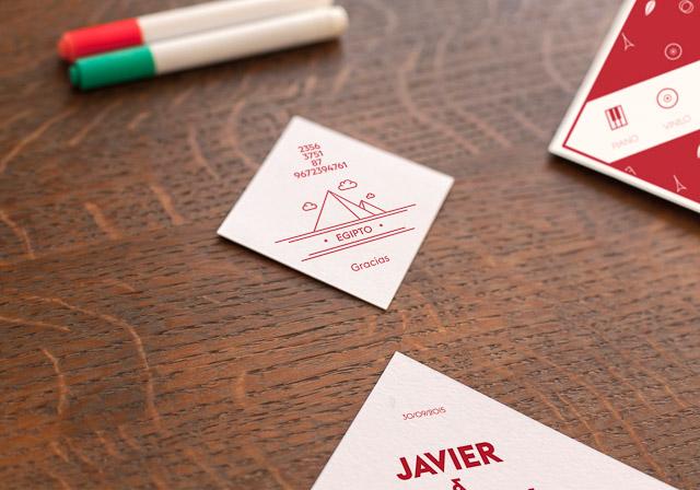 invitaciones boda originales invita rombo diseño ideas 10