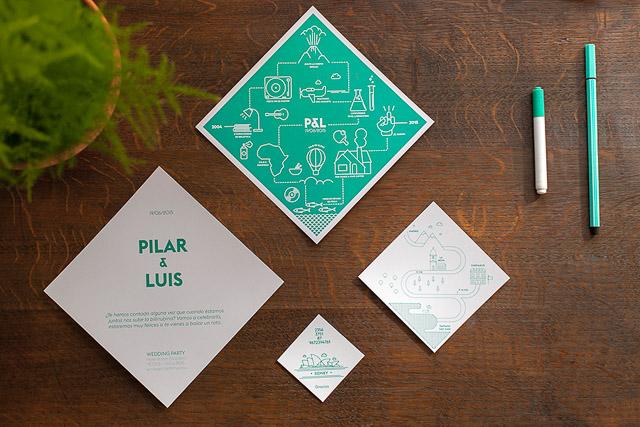 invitaciones boda originales invita rombo diseño ideas 8