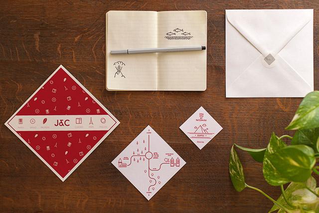 invitaciones boda originales invita rombo diseño ideas 9