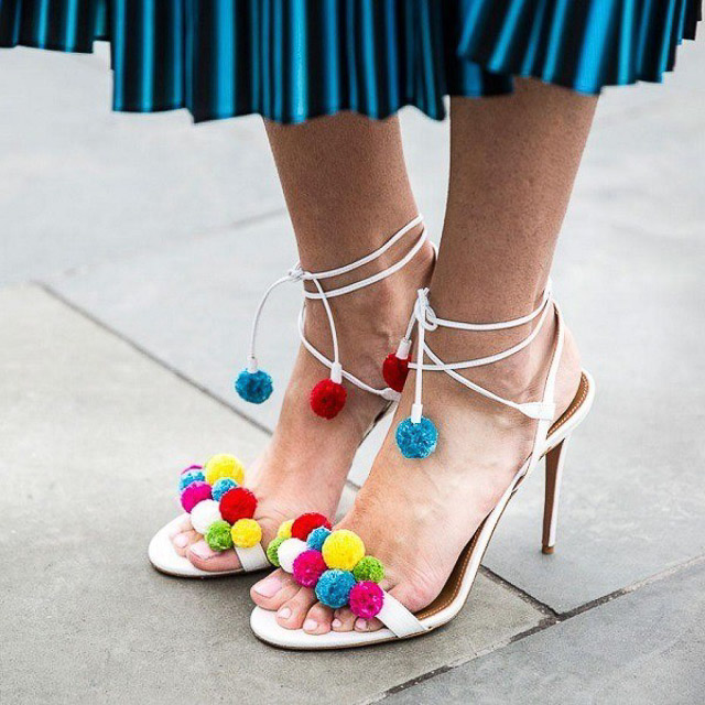 sandalias acordonadas lace up sandals zapatos invitada boda blog