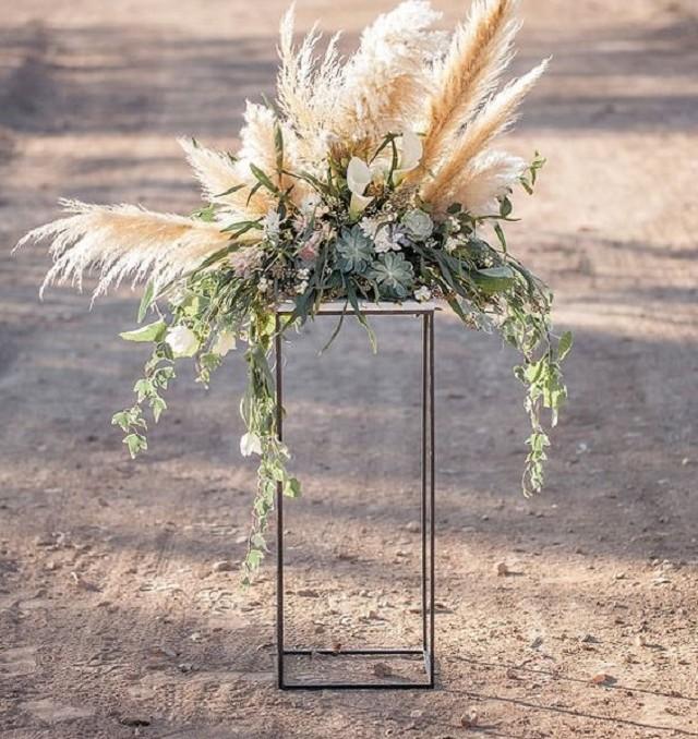 boda plumas plumeros pampa cortaderia selloana faisan perdiz