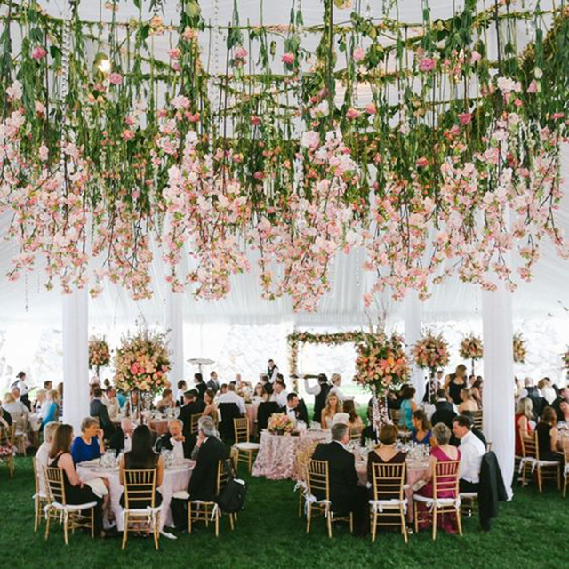 flores alturas cielo techo decoracion flower ceiling boda increible blog