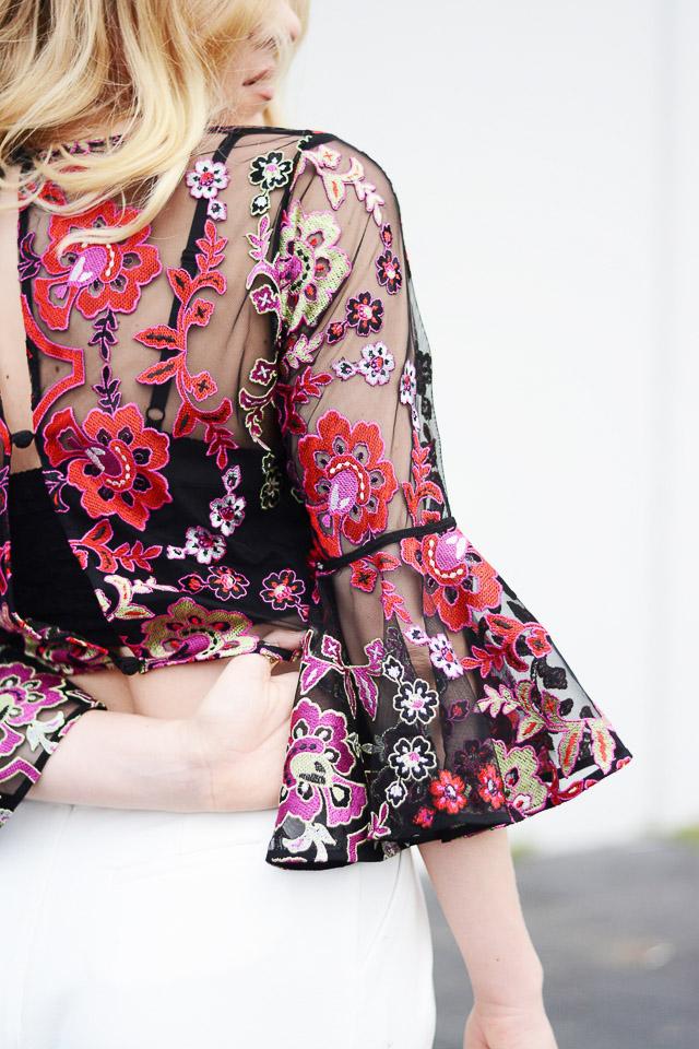invitada boda crop top blog look vestido