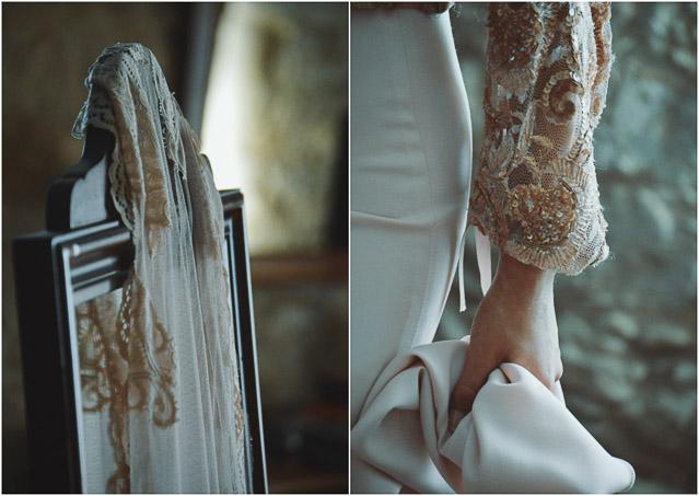 boda galicia palacio Lestrove plumas corona indie wedding feather crown