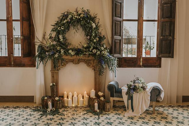boda invierno decoración decor winter wedding flower crown