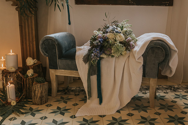 boda invierno decoración mesa decor winter wedding flower crown