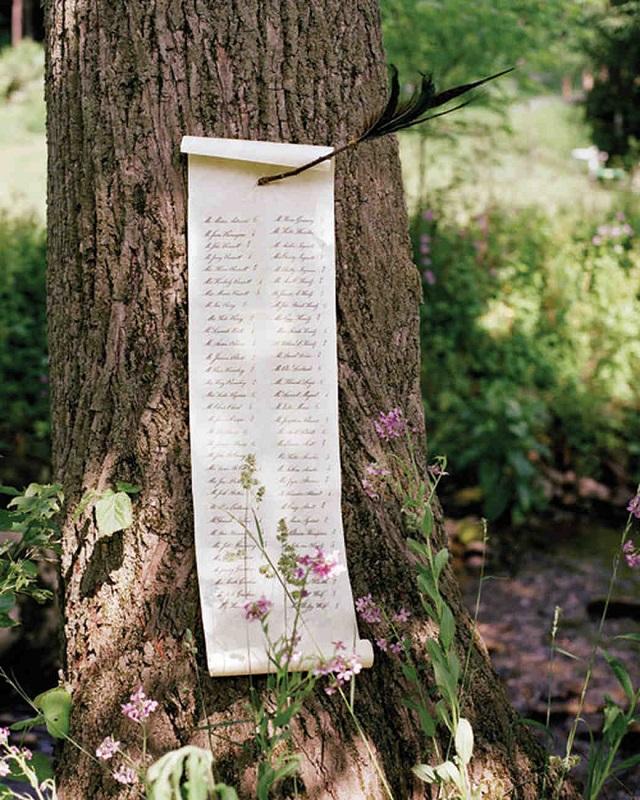 tela impresa boda decoracion ideas banderola caligrafia lettering