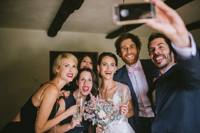 Boda Wedding selfie invitados