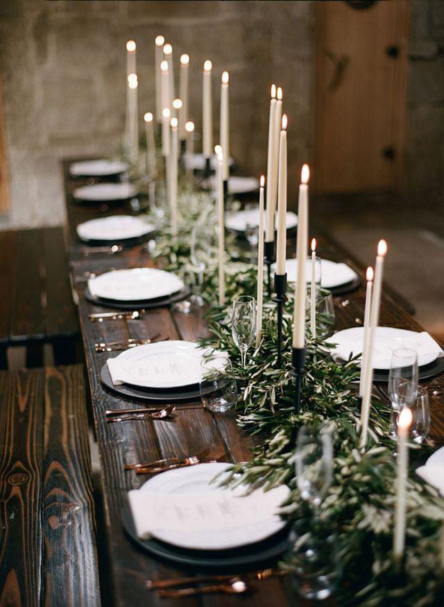 velas altas largas finas decoracion bodas ideas
