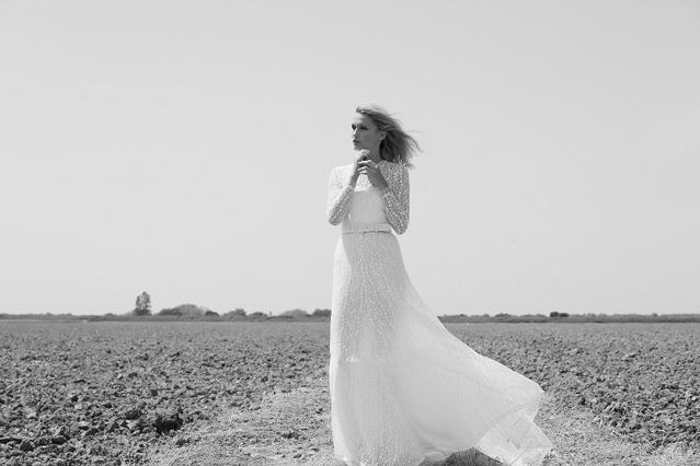 colour nude vestido novia sencillo barcelona blog bodas