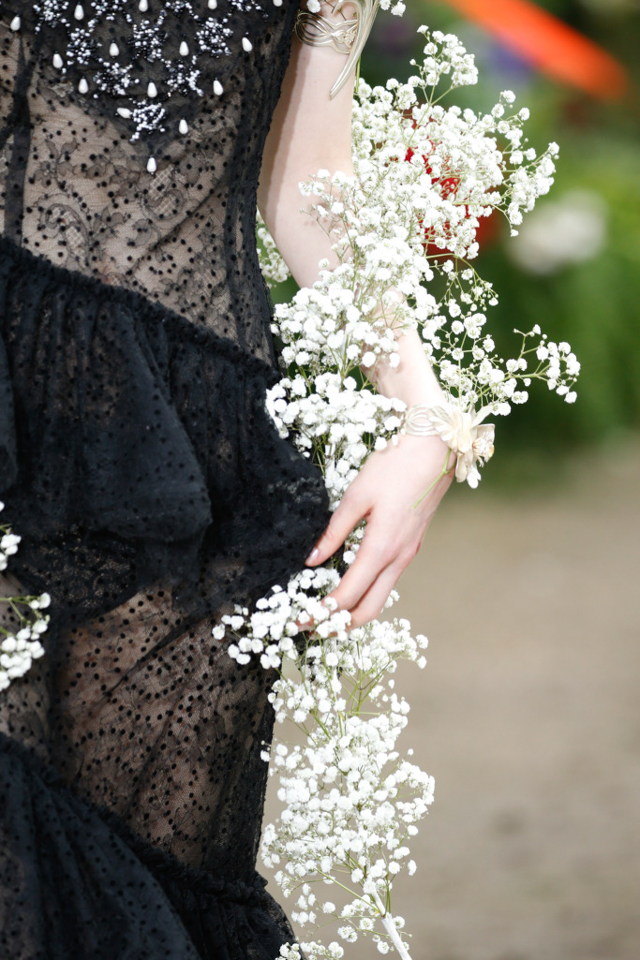 rodarte paris paniculata novia boda flor tendencia flower crown