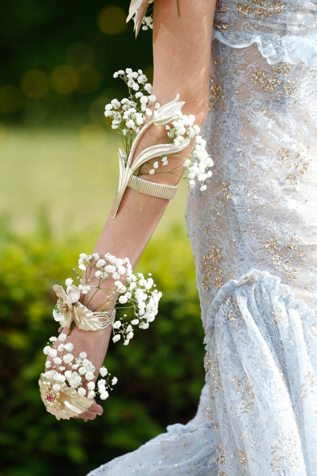 rodarte paris paniculata novia boda flor tendencia flower crown