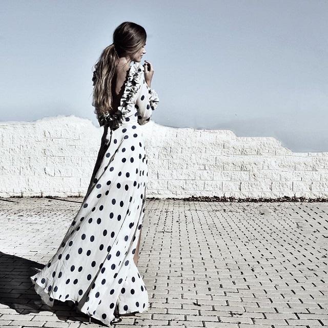 vestido lunares topos invitada fiesta boda polka dots dress