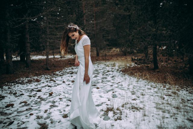 lorena erre boda bohemia nieve bosque hipster