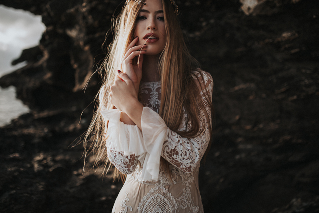 immacle boho bohemio vestido novia martina dorta corona sensual