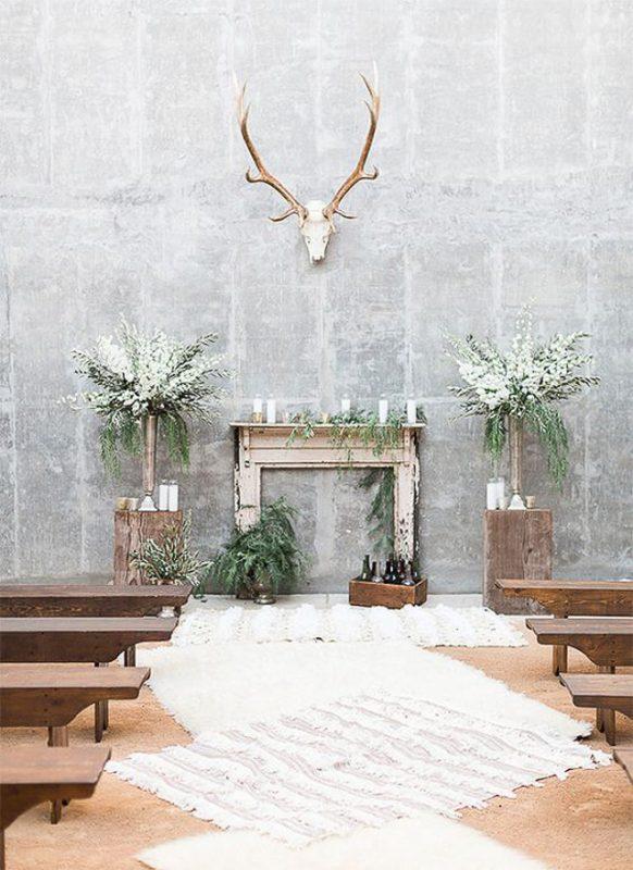 boda industrial idea decoración wedding decor cemento concret