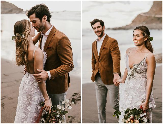marco y maria boda boho novia playa
