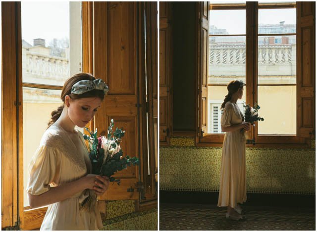 arca barcelona vintage vestido novia wedding dress gown bridal