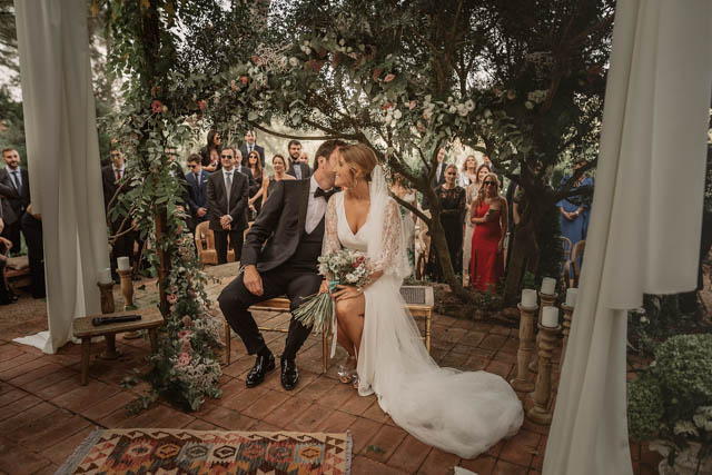 rosa clara vestido novia bohemia boda barcelona wedding boho