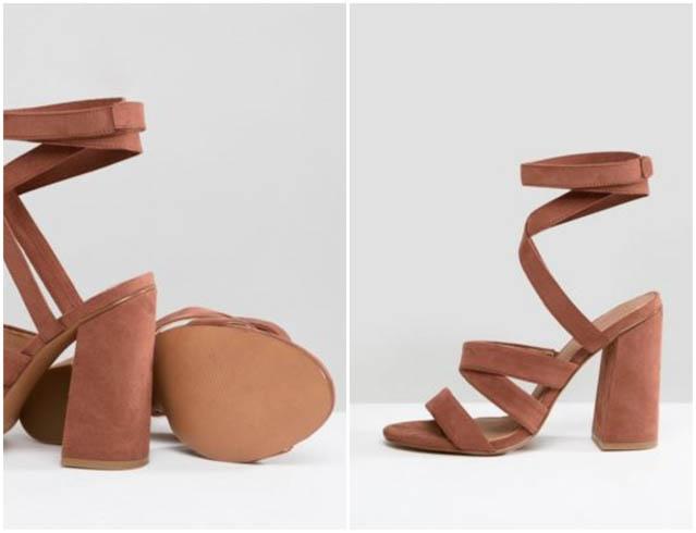 sandalia tacon zapato fiesta boda asos shoes sandals