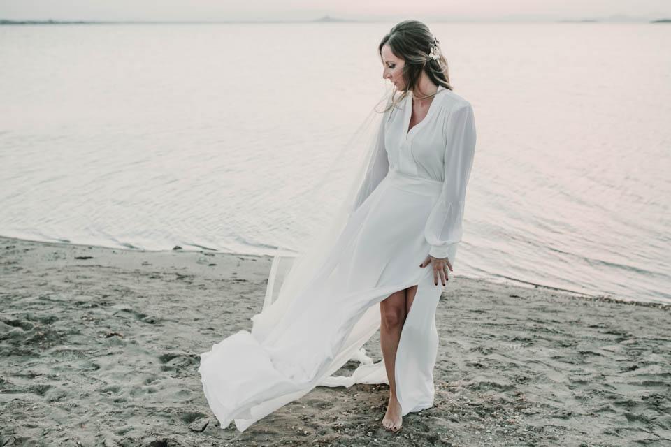 cabo de palos murcia playa boda teresa helbig vestido novia beach wedding