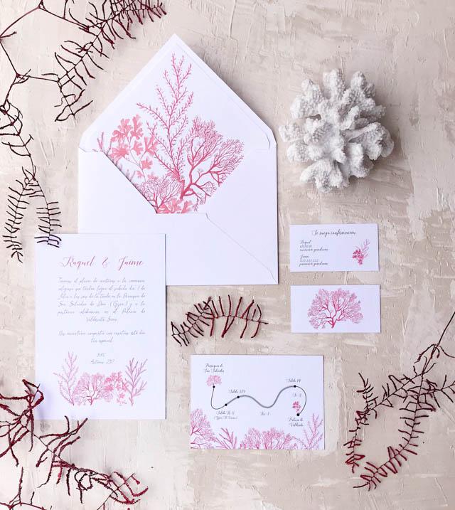 marmarina invitaciones boda papelería sello sobre forrado
