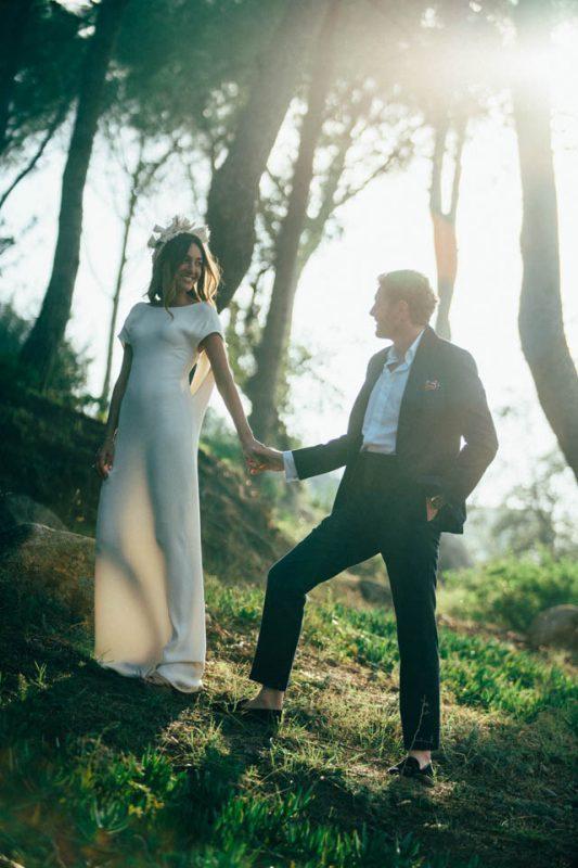 costa brava boda wedding novia vestido valentino corona verbena madrid