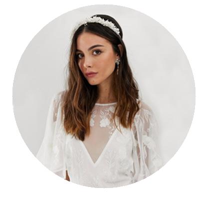 broche pelo novia diadema accesorio