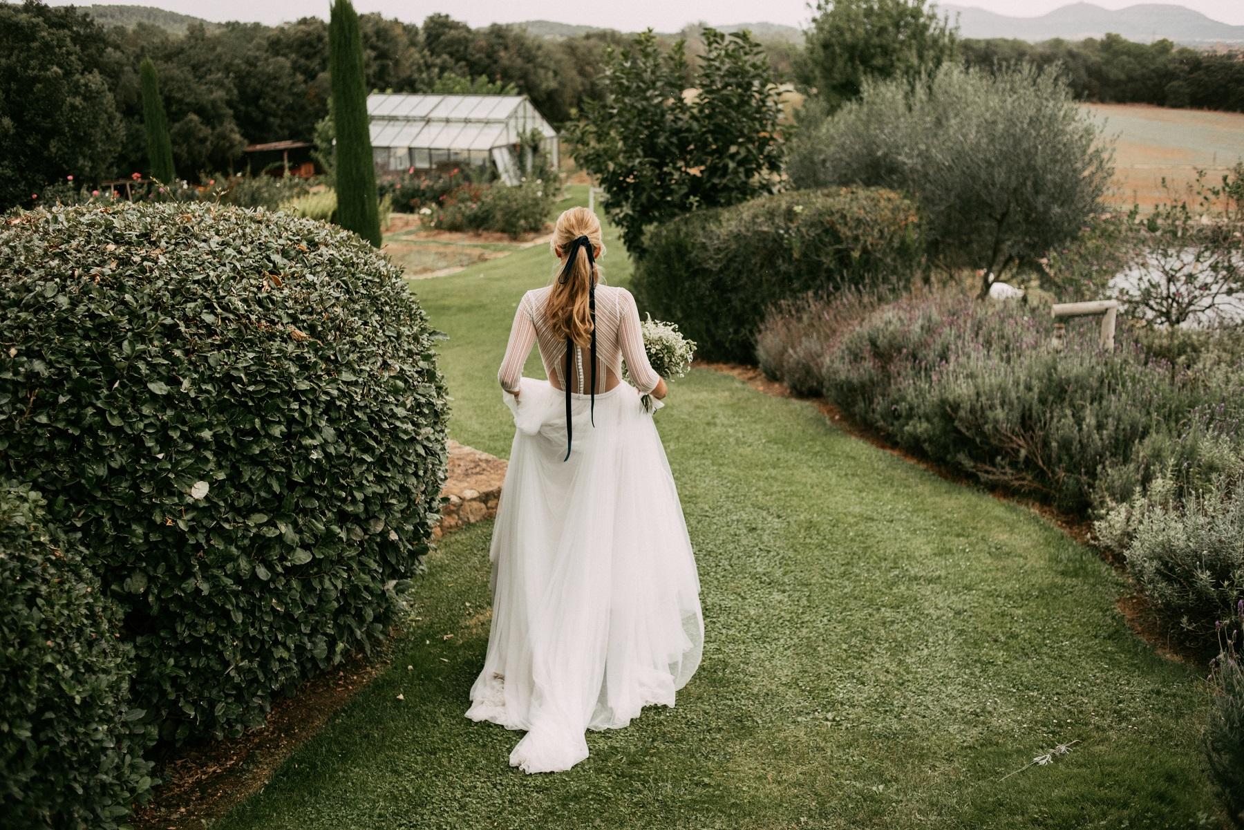 santos costura vestido novia barcelona elegante