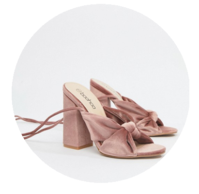 zapato novia rosa terciopelo