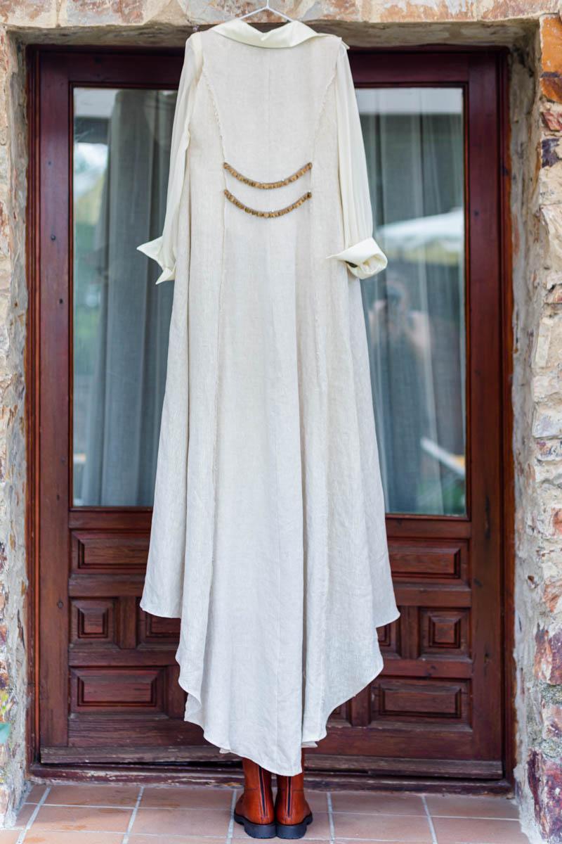 boda zamora vestido novia pantalon sombrero mono capa 12