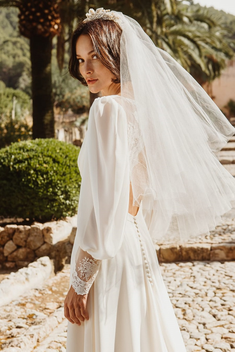 larca barcelona vestido novia vintage wedding dress bridal 35
