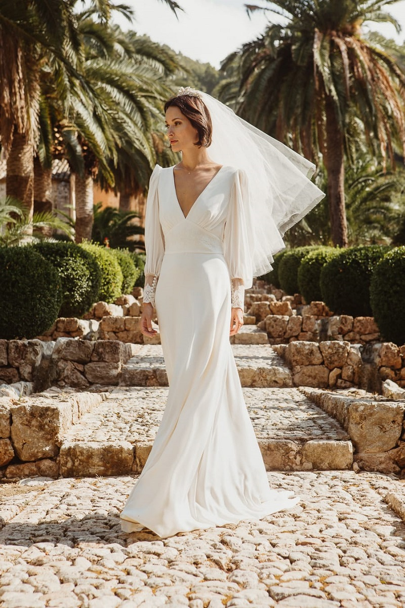larca barcelona vestido novia vintage wedding dress bridal 36