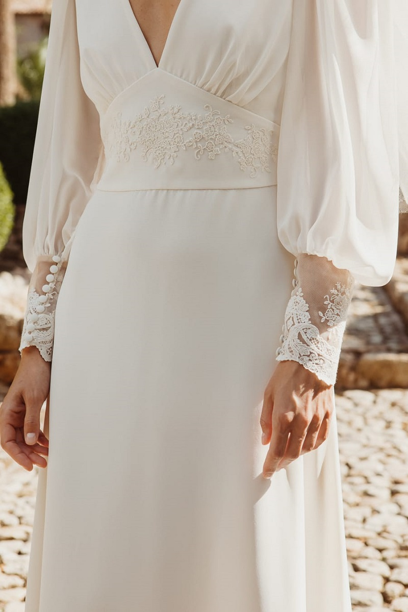 larca barcelona vestido novia vintage wedding dress bridal 6