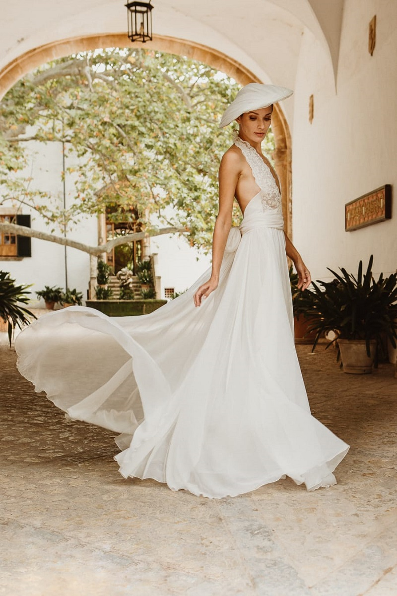 larca barcelona vestido novia vintage wedding dress bridal 9