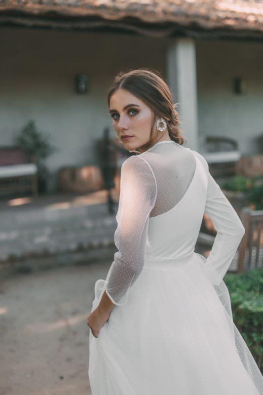vestido novia maria baraza