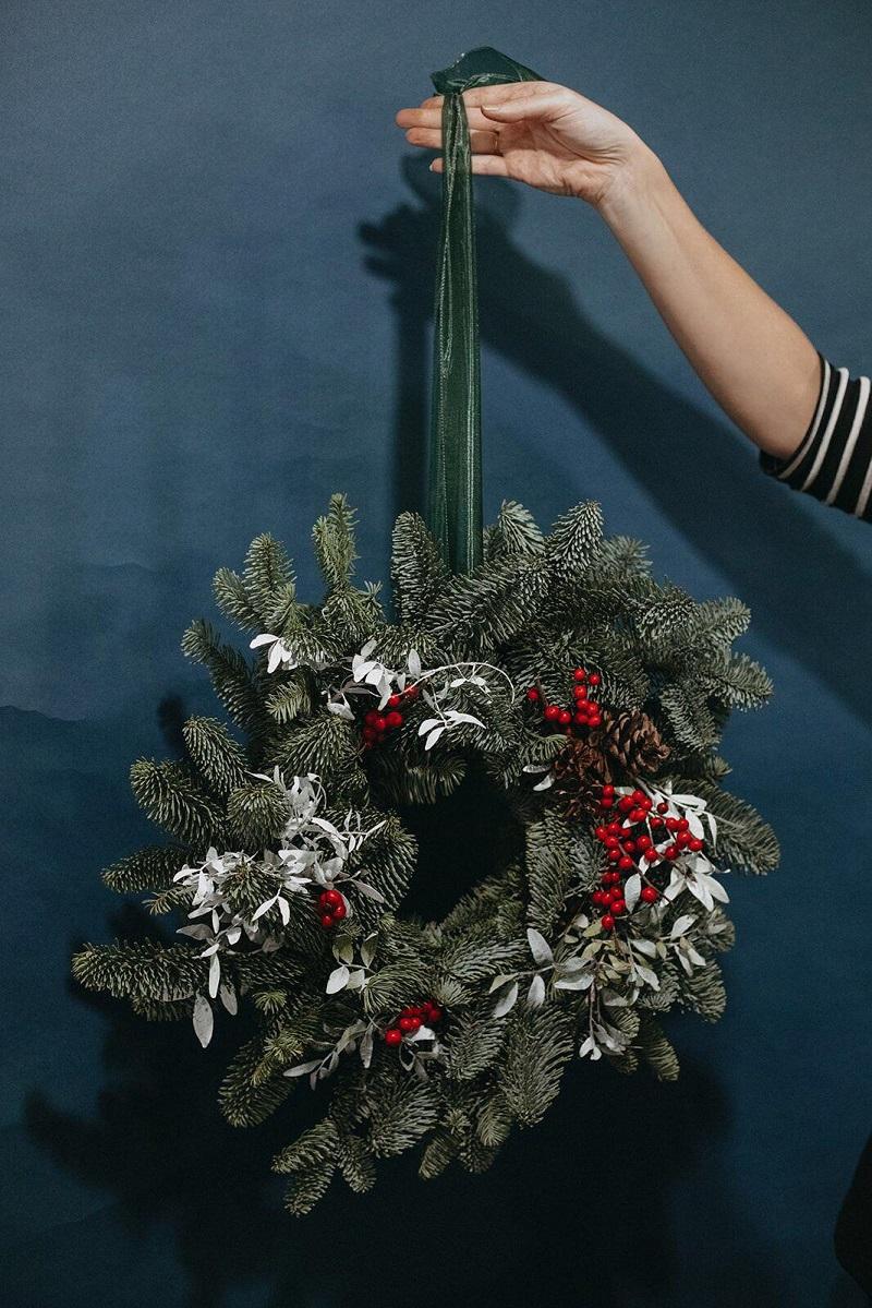savia bruta taller floresl corona navidad madrid