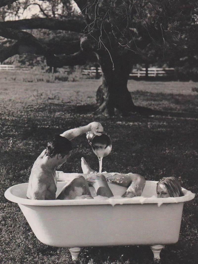 bañera pareja amor